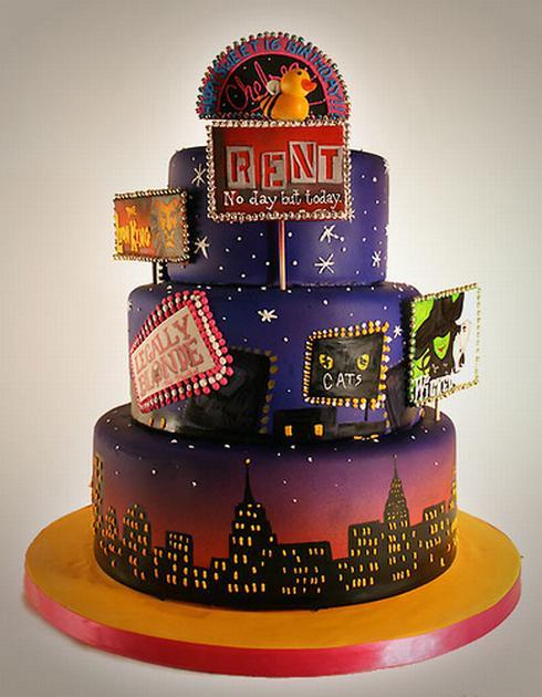 Chicago On Broadway Birthday Cake