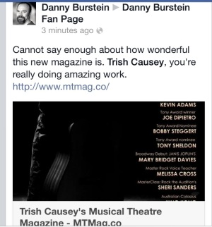 Tony Award Nominee Danny Burstein - Review Comment for Musical Theatre Magazine - Nov 2013