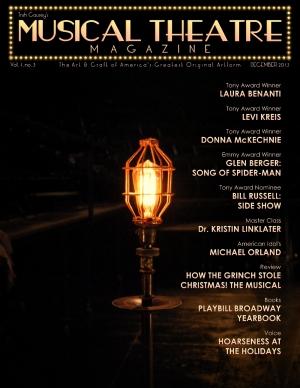 Musical Theatre Magazine Vol 01 No 03 December 2013 cover