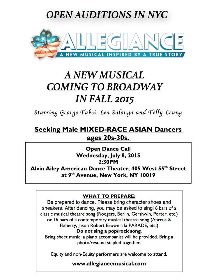 George Takei\'s Musical ALLEGIANCE Seeking Asian Dancers for Broadway ...