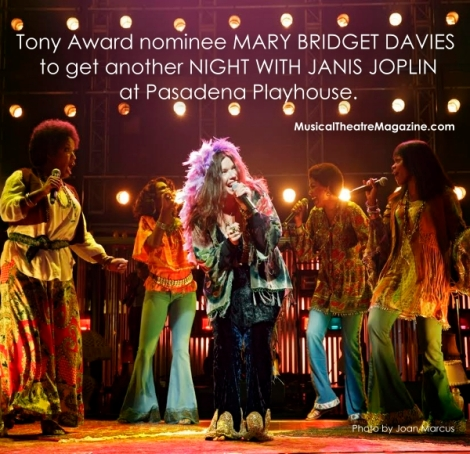 Tony Award Nominee Mary Bridget Davies in A Night with Janis Joplin at Pasadena Playhouse - Musical Theatre Magazine